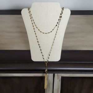 Stella & Dot Gold Tassle Necklace